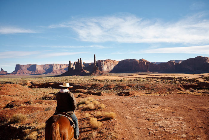 Man riding a horse Charlotte Bresson